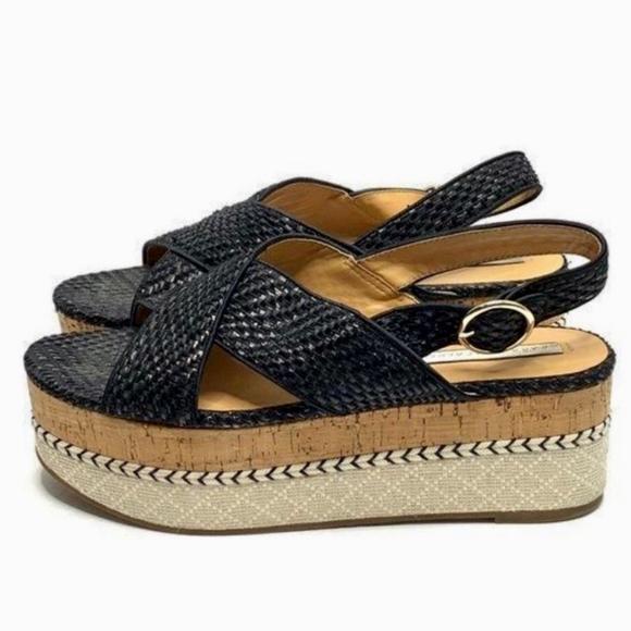 ZARA TRAFALUC X strap flatform sandals 40 9.5 (N5)